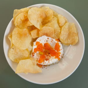 Hipped cod's roe with crisps. 'This is what they're doing in London.'