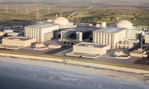 An artist's impression of the Hinkley Point nuclear power station