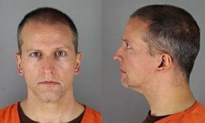 Derek Chauvin's mugshot after his arrest.