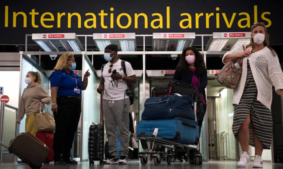 Travellers from 26 EU member states and the US will be able to skip quarantine if they can provide proof of inoculation when coming from an amber-list country.