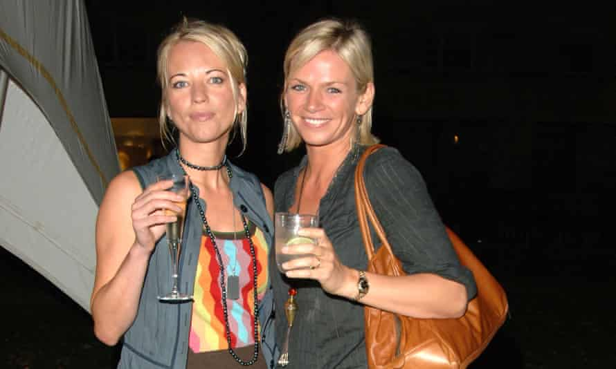 With fellow former 'ladette' Sara Cox.