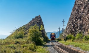Tourist train rides on the Circum-Baikal Railway, Siberia