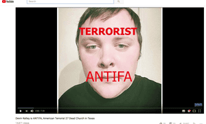 Searches suggested Devin Kelley was linked to anti-fascist movements.
