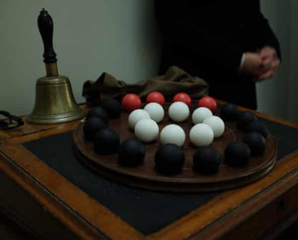Lottery system … the balls that determine a foundling's future.