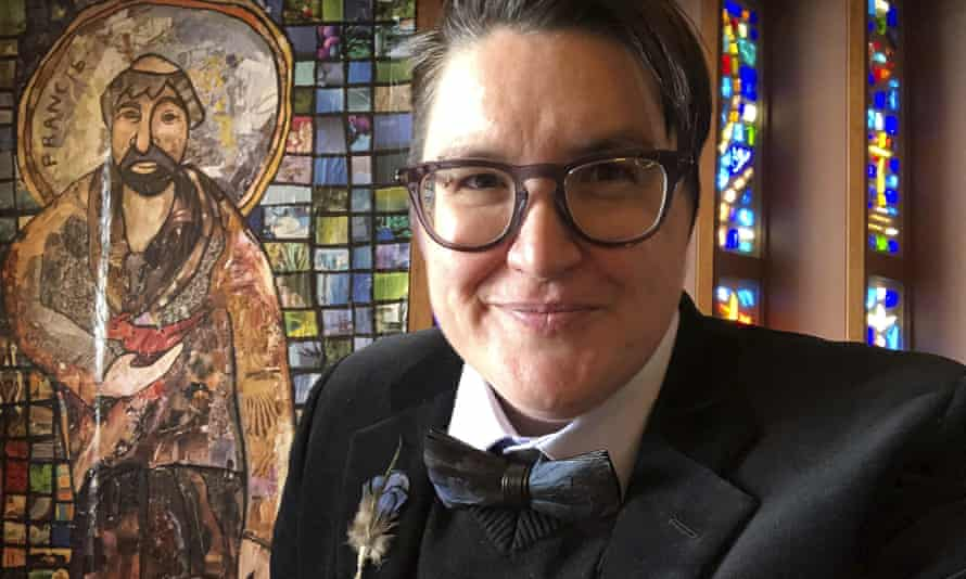 The Rev Megan Rohrer at the Grace Lutheran Church in San Francisco