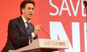 Ed Miliband at a Labour rally in Leeds on 23 April.