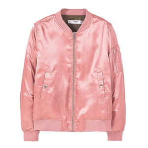 pink satin bomber jacket Mango