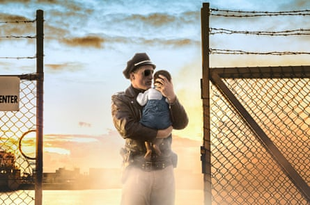 Cop and Baby (Passage Series), by Tracey Moffatt from her Venice show My Horizon.