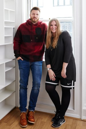 Rick Edwards with Astrid Andersen