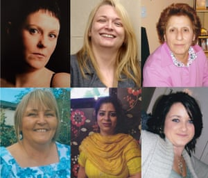 Six of the women featured in Love You To Death