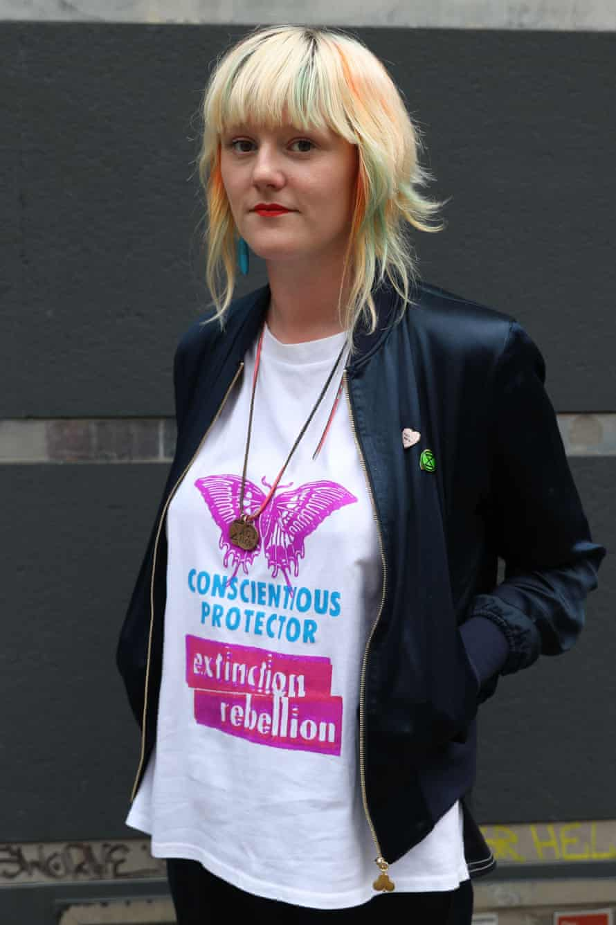 Co-founder of the environmental action group Extinction Rebellion, Clare Farrell.