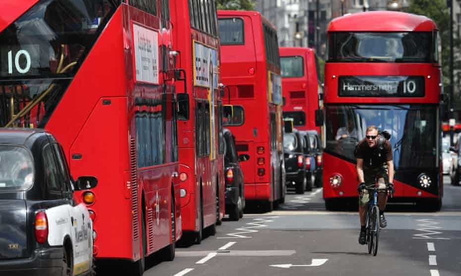Oxford Street in London was named the most polluted road in the world for NO2.
