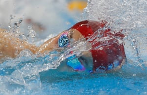 Great Britain's James Guy in the men's 200m freestyle semi-final at the Olympic Aquatics Centre