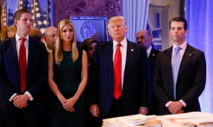 In addition to Trump, the lawsuit names his children Donald Jr, Ivanka and Eric.