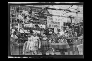 Multiple exposure, shop window, London, c.1929, Uncropped negative image £500-£800