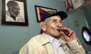 A portrait of Gregorio Fuentes in 2001 Fuentes was captain, cook and friend to Ernest Hemingway. Many say he was the inspiration for the protagonist in The Old Man and the Sea.