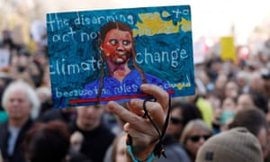 A sign made for Swedish climate change teen activist Greta Thunberg during a climate strike march at the Alberta Legislature in Edmonton, Alberta, Canada October 18, 2019. REUTERS/Amber Bracken
