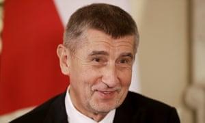 The Czech prime minister Andrej Babiš