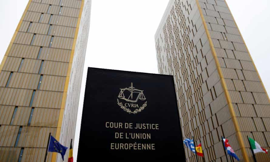 The European court of justice in Luxembourg