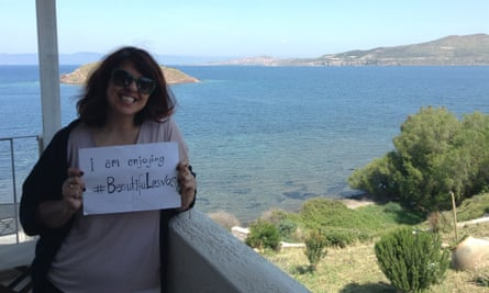 Gabriela is part of a campaign asking people to share photos with the hashtag #BeautifuLesvos.