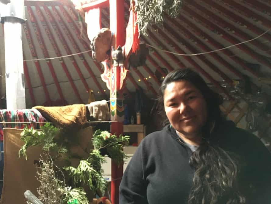 Linda Black Elk helped coordinate the Healer & Medic Council, responsible for everything from everyday aches and pains to the 'mass casualty event' when hundreds of protesters were doused with water cannons and hit with tear gas and rubber bullets.