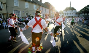 Morris dancing in Thaxted.