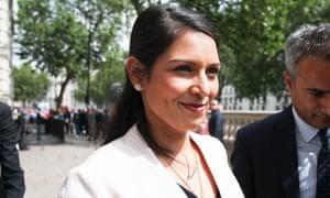 Priti Patel outside a cabinet meeting in June.