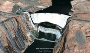 The Glen Canyon Dam on the Colorado river, Arizona.