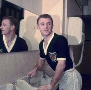 Docherty in his Scotland kit in 1957