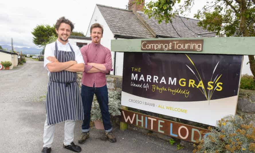 Scousers dishing it out: Liam (right) and Ellis Barrie outside the Marram Grass.