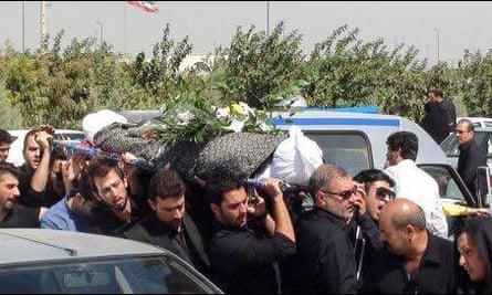 Reza Barati's funeral in Lumar, Iran
