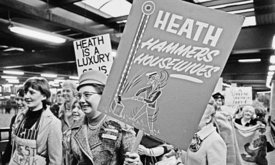 A group of women protest against the new inflation rate in 1973. 'The price rises of today are nothing like those we saw half a century ago.'