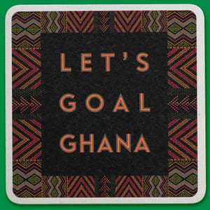Weird World Cup design by Samuel Mensah featuring the chant Let's Goal Ghana that the Ghana fans were singing when Ghana beat USA in the 2010 World Cup, South Africa