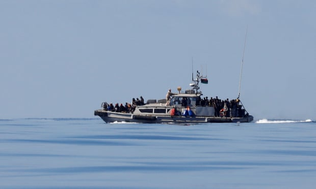 A Libyan Coast Guard vessel during a rescue operation last month.