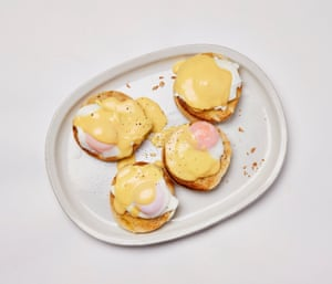 Felicity Cloake Eggs royale: Toast some muffins, slather in butter, top with the eggs and sauce...