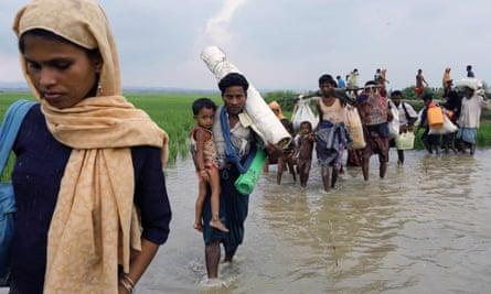 Rohingya refugees  arrive in Bangladesh