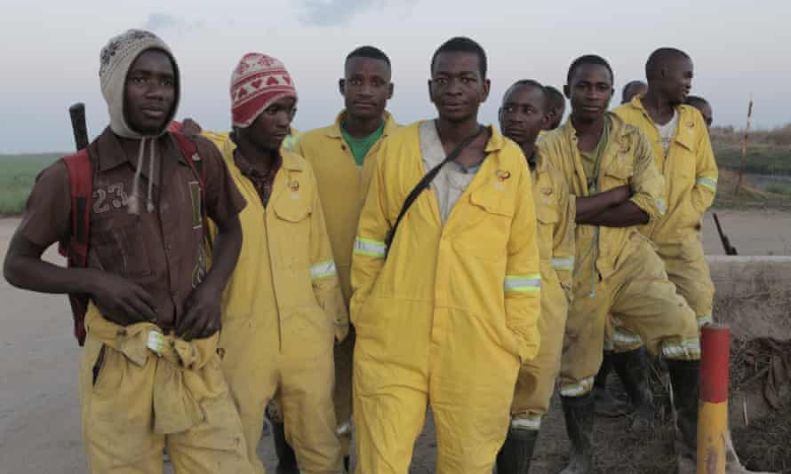 Local deminers in Mozambique