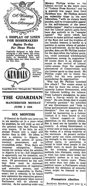 The Guardian, 2 May 1958.