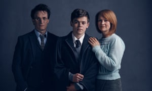 Jamie Parker, Sam Clemmett and Poppy Miller as Harry, Albus and Ginny Potter in the new stage version.