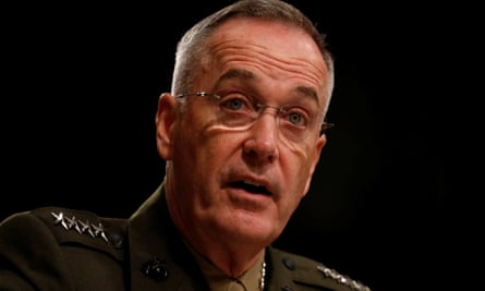 Gen Joseph Dunford, chairman of the US joint chiefs of staff