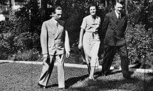 L-R: Joseph Paul Goebbels, Leni Riefenstahl and Adolf Hitler