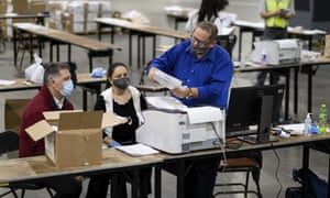 Georgia conducted a recount shortly after the election which put Biden about 13,000 votes ahead, but Trump's campaign requested another recount because of the narrow margin.