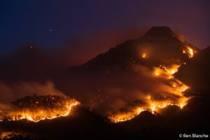 Australian Geographic nature photographer of the year 2020 overall winner: Border Fire Mt Barney by Ben Blanche