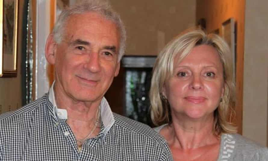 British pensioner Tony Stone in Spain with his wife Maryna