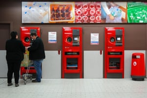 A reverse vending machine in Meppen, Germany.
