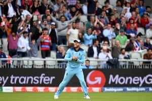 Jonny Bairstow reacts as he catches the ball to take the wicket of Rahmat Shah for 46 runs.