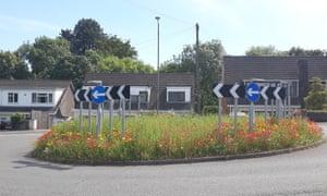 Allt-yr-yn Road roundabout, Newport
