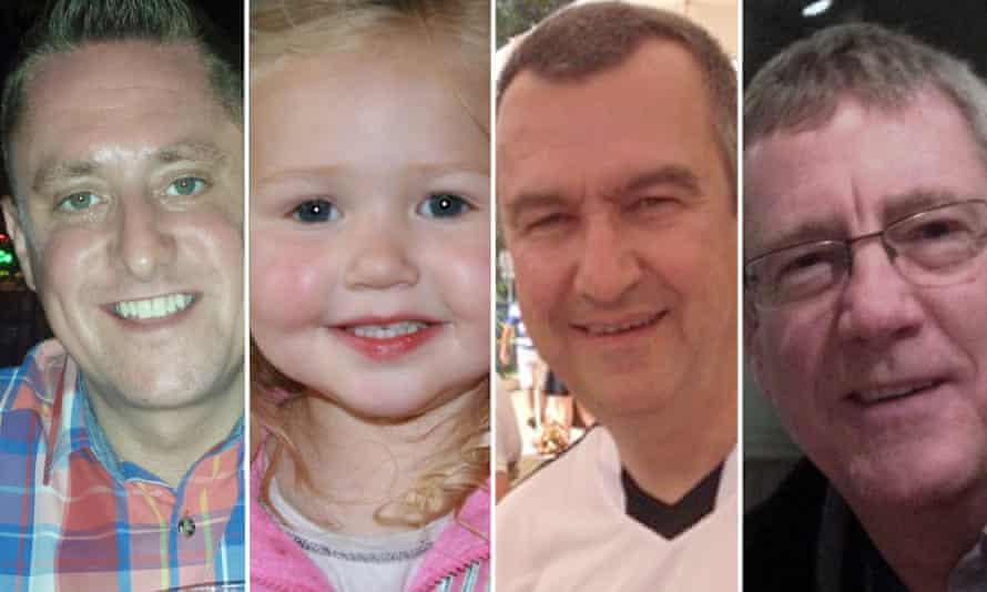 Bath crash victims from left: Stephen Vaughan, Mitzi Steady, Philip Allen and Robert Parker