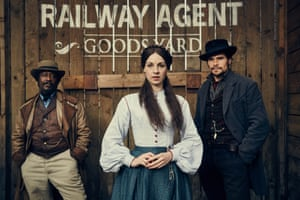 Jessica Raine with Clarke Peters (left) and Hans Matheson in Jericho.