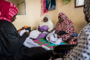 Haratine women learn to embroider in SOS Slaves workshops in Nouakchott